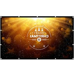 Projector Screen 200 Inch 16:9, Outdoor Portable Movie Scree