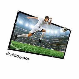 Projector Screen Large 250 Inches 16:9 Wall Mounted Canvas H