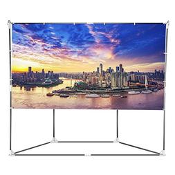 "Outdoor Projector Screen, Auledio 100"" 16:9 Foldable Portabl"