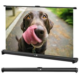 Projector Screen, Indoor Outdoor Portable Movie Screen Pull