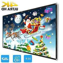 Projector Screen 120 inch, Weton 16:9 HD Projector Screen Po