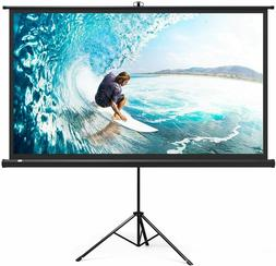 "Projector Screen with Stand, TaoTronics 4K HD 120"" 4:3 Indoo"