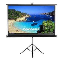 Excelvan Projector Screen with Stand, Indoor Outdoor Portabl