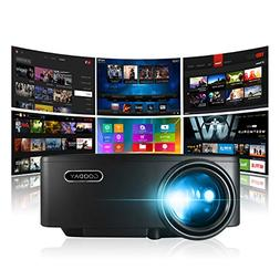 GooDay Projector, Smart Android WiFi Bluetooth Portable Vide