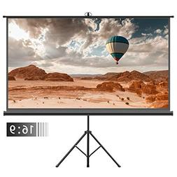 Projector Screen with Tripod Stand – FEZIBO 100 inch 16:9