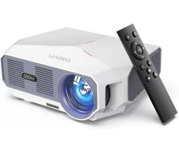 Projector, COOAU 5500 Lumens Home Video Projector, Support 1