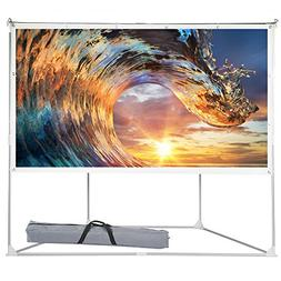 2-in-1 Portable Projector Screen, 100 inch Outdoor Indoor Pr