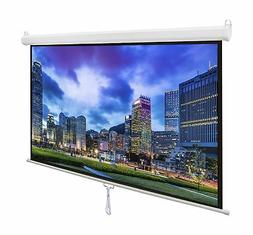 Projector Screen Manual Pull Diagonal 16:9 Projection HD 80""