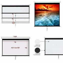 Projector Screen Manual Pull Down 100 inch 16:9 Projection M
