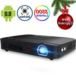 Projector 3500lumens Mini Portable DLP 3D Video Projector Ma