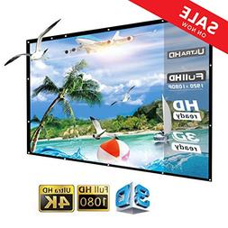 150 inch Projector Screen Portable Outdoor Movie Screen, 16: