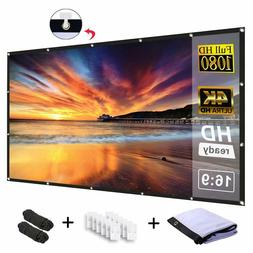 Projector Screen 120 Inch 16:9 HD Foldable Anti-Crease Porta