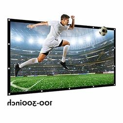 Projector Screen 120 Inch 16 9 NIERBO Portable Movies HD Pro