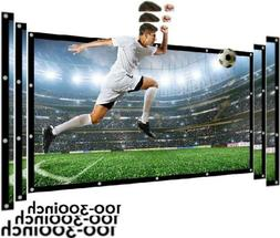Projector Screen 140 Inch 16:9 NIERBO Portable Movies HD 140