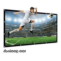 16:9 200 Inches Matt White Projector 3D Movie Screen Foldabl