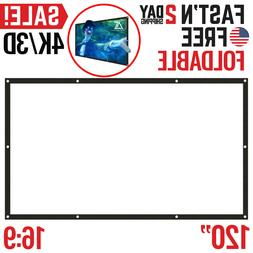 Projector Screen Portable Foldable Home Theater Indoor Outdo
