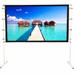 NIERBO Projector Screen w/ Stand 16:9 Portable Indoor Outdoo