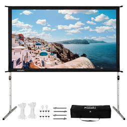 Projector Screen with Stand 100 in Portable Projection 16:9
