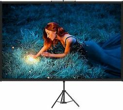 VEVOR Projector Screen with Stand 100 inch 16:9 HD 4K Outdoo