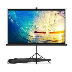 Projector Screen with Stand 84 inch - Indoor and Outdoor Pro
