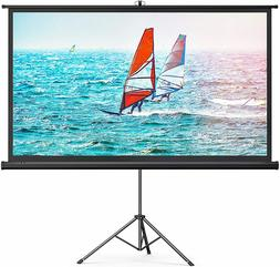 TaoTronics Projector Screen with Stand,Indoor Outdoor PVC 10