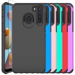 For Samsung Galaxy A21/A11 Case Shockproof Armor Cover / Gla