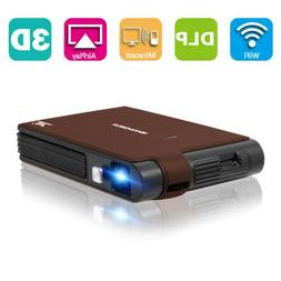 Smart HD 3D DLP Projector Wireless Screen Mirroring Meeting