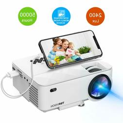 TOPVISION 2400Lux Projector with Synchronize Smart Phone Scr