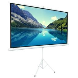 "84"" 16:9 HD Portable Pull Up Projector Screen with Stand Tri"