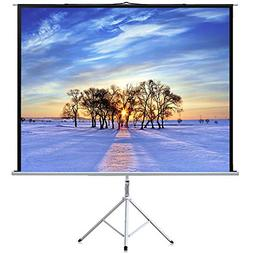 Projector Screen with Stand 100 Inch 4:3- Height Adjustable