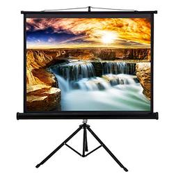 "50"" Tripod Stand Style Video Projector Screen Easy Fold-Out"