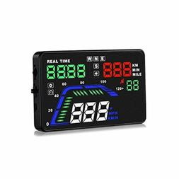 Pyle Universal 5.5'' Car HUD Head-Up Display Multi-Color