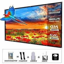 Updated 150 Inch Portable Projector Screen, YF2009 16:9 HD F