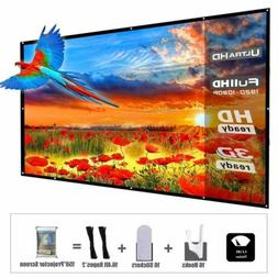 YF2009 Updated 150 Inch Portable Projector Screen, 16:9 HD F