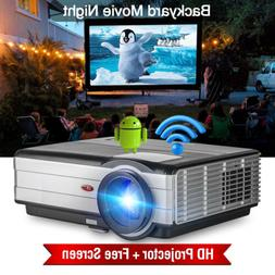 EUG Video LED Projector Android 4500lm Home Theater HDMI USB