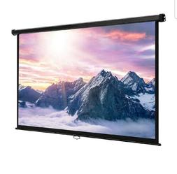 "VonHaus 80 Inch Projector Screen - Manual Pull Down - 80"" Wi"