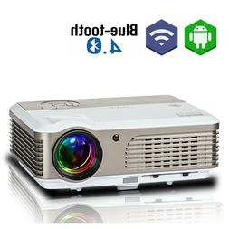 WiFi Projector Android 6.0 Blue-tooth 1080P HD Synchronize A